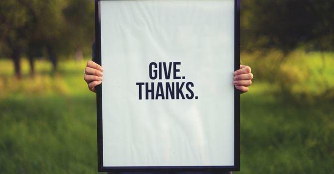 Have you said thank you? image